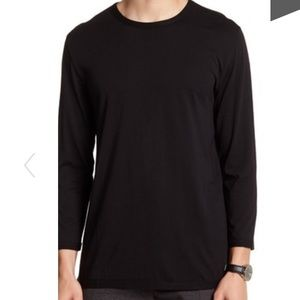 Vince men's crew neck long sleeve shirt black NWT